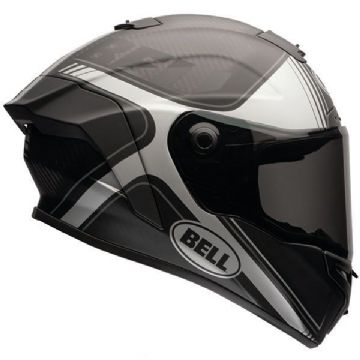 Bell Race Star Carbon Motorcycle Helmet - Tracer Matt Black / Grey